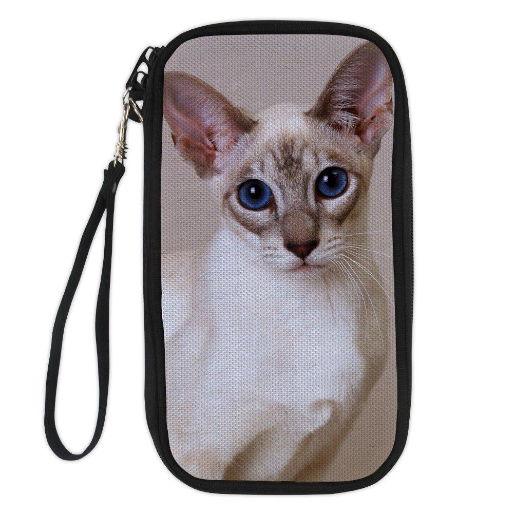doginthehole Cat Print Passport Wallet Multiple Passport Holder Travel Pouch