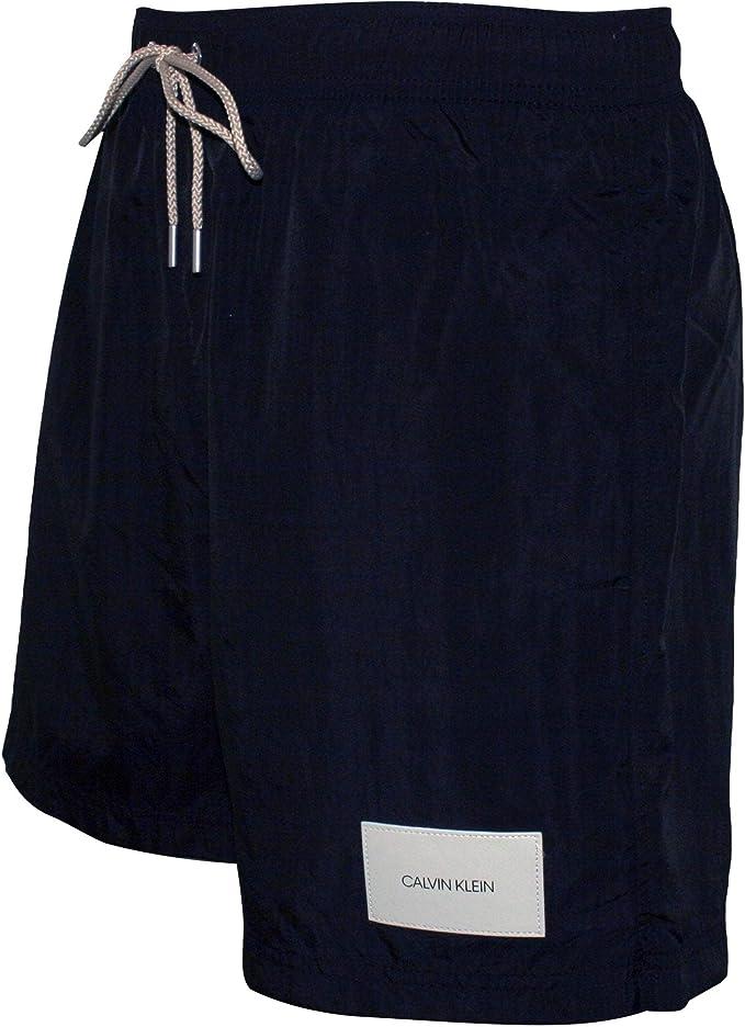 Calvin Klein Logotipo Premium Parche Pantalones Cortos De Baño ...