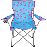Folding Camping Festival Chair Flamingo Watermelon Funky Portable Seat With Bag