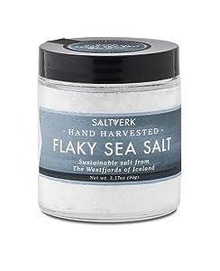 Saltverk Flaky Sea Salt, 3.17 Ounces of Handcrafted Gourmet Salt Flakes from Iceland
