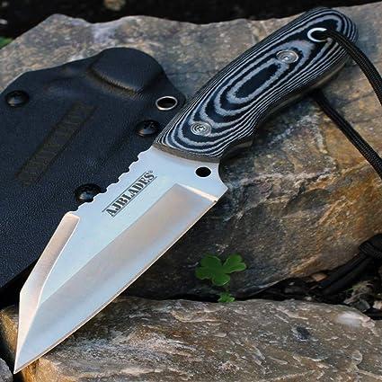 Amazon.com: Cuchillo de caza táctico para botas con mango de ...