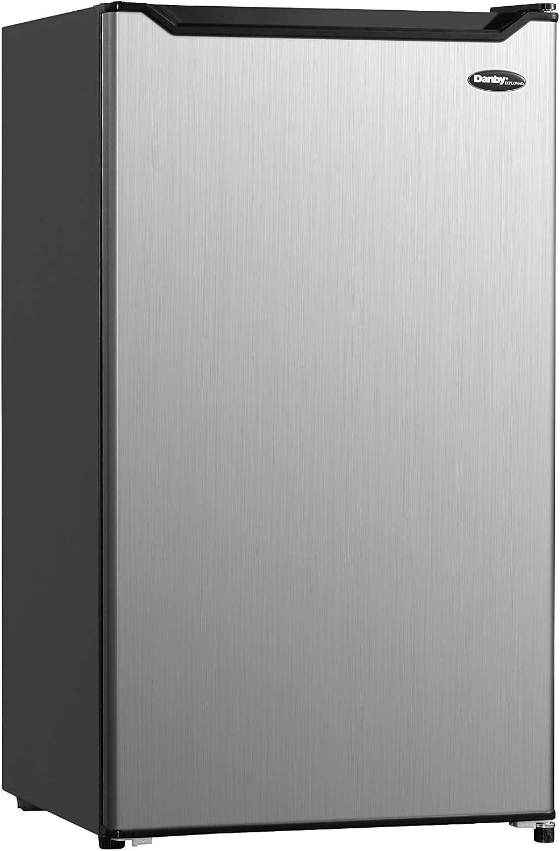Danby DCR044B1SLM-6 Diplomat Compact mini fridge with freezer