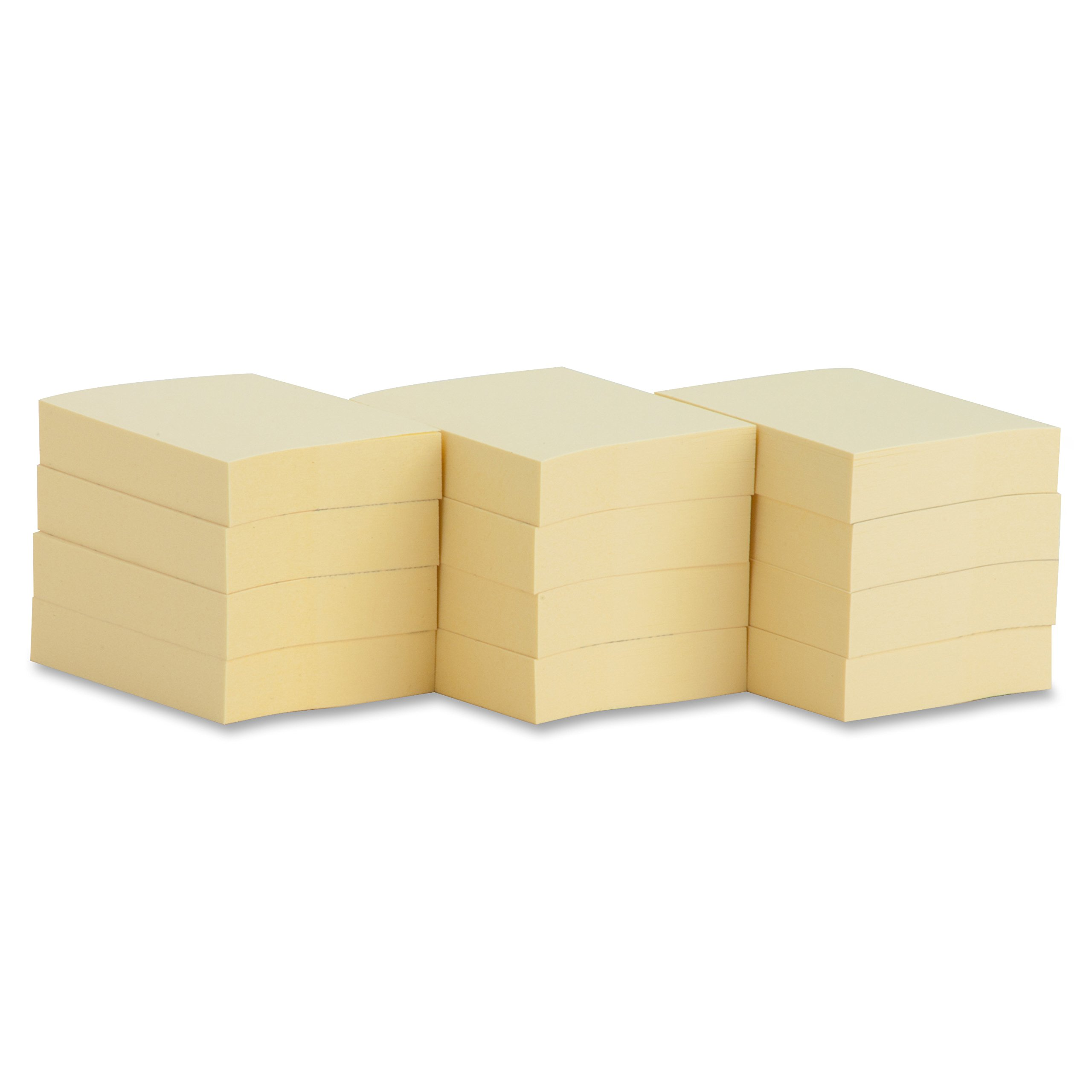 Business Source Yellow Repositionable Adhesive Notes - 1.88'' x 1.38 (36610)