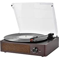 Deals on Vintage Vinyl 3-Speed Turntable Built-in Stereo Speakers