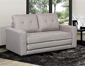 Phenomenal Us Pride Furniture S5334 Daisy Modern Fabric Loveseat And Sofa Bed Light Grey Gmtry Best Dining Table And Chair Ideas Images Gmtryco