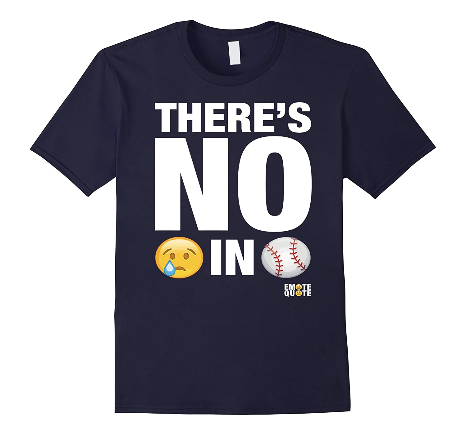 Funny Baseball Tshirt - There Is No Crying Baseball Tshirt-CD