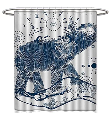 Anhuthree Psychedelic Shower Curtain Collection By Elephant In The Hands With Sacred Geometry Occult Symbols Inner