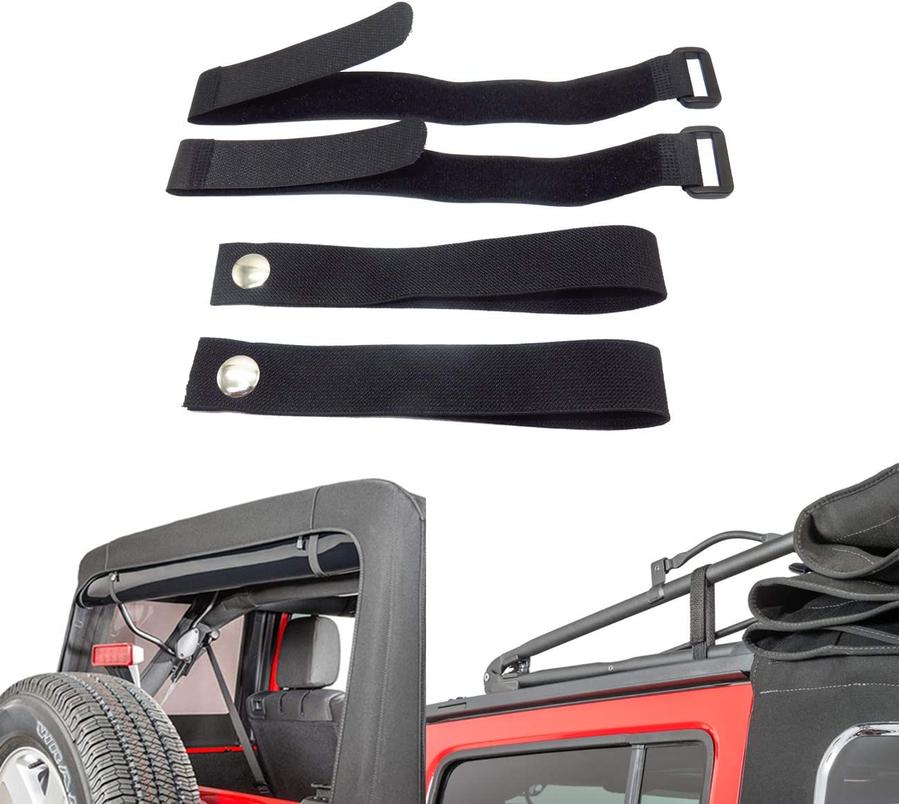 Amazon Com Mfc Rear Window Roll Up Snap Straps Soft Top