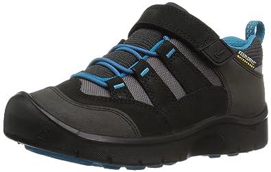 f90adf1dd67 KEEN Kids' Hikeport WP Hiking Shoe,Black/Blue Jewel,8 Toddler US