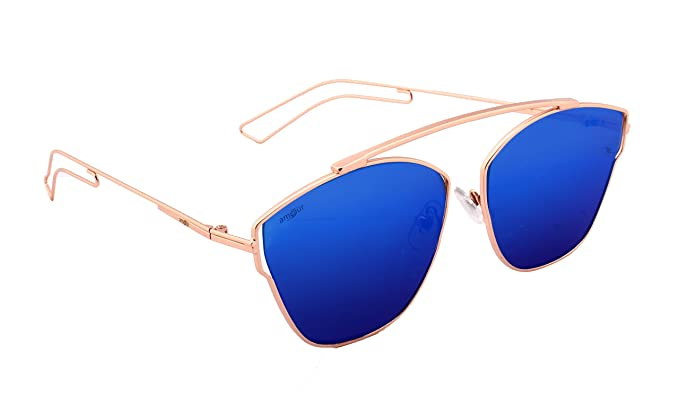 df831ef110 Amour Ultra Light Pantos Shaped Flat Lens Metal Aviator Unisex Sunglasses  (Sku-53S-C-Blgdm-Ib