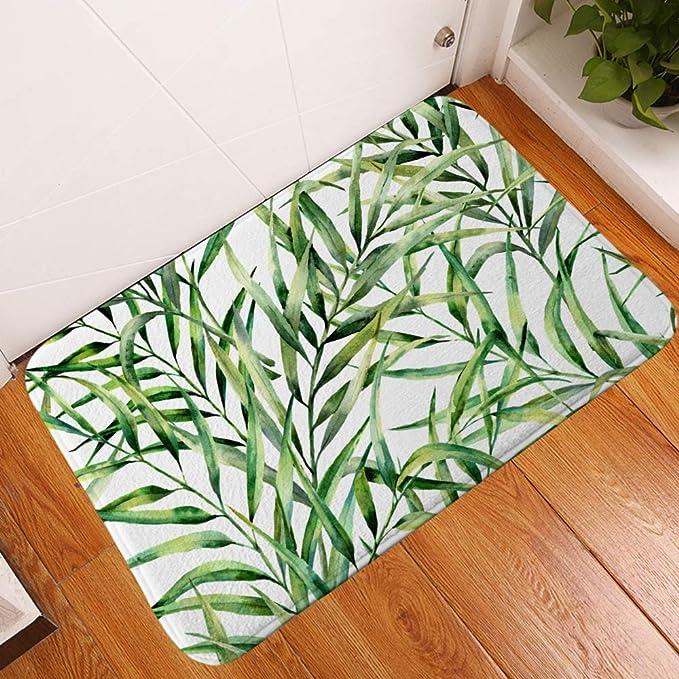 Wj - Alfombrilla de baño Pintada a Mano con diseño de Hojas ...