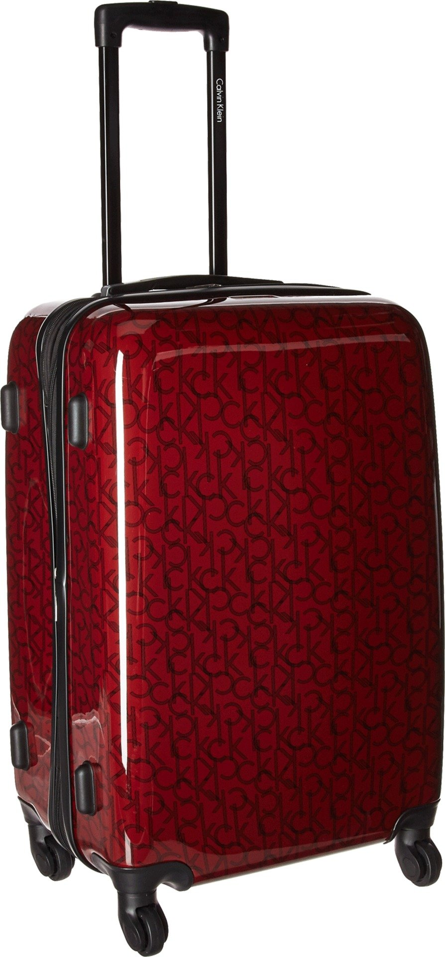 Calvin Klein Unisex CK-510 Signature Hardside 24'' Upright Suitcase Burgundy One Size