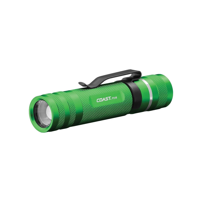 Coast PX1R 460 lm wiederaufladbar Fokussierung LED Taschenlampe, schwarz, PX1R