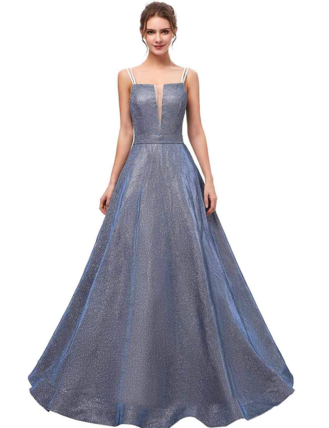 634b6afff Amazon.com: Sarahbridal Women's Crystal Beaded Prom Dresses Long Formal  Evening Gowns LX116: Clothing