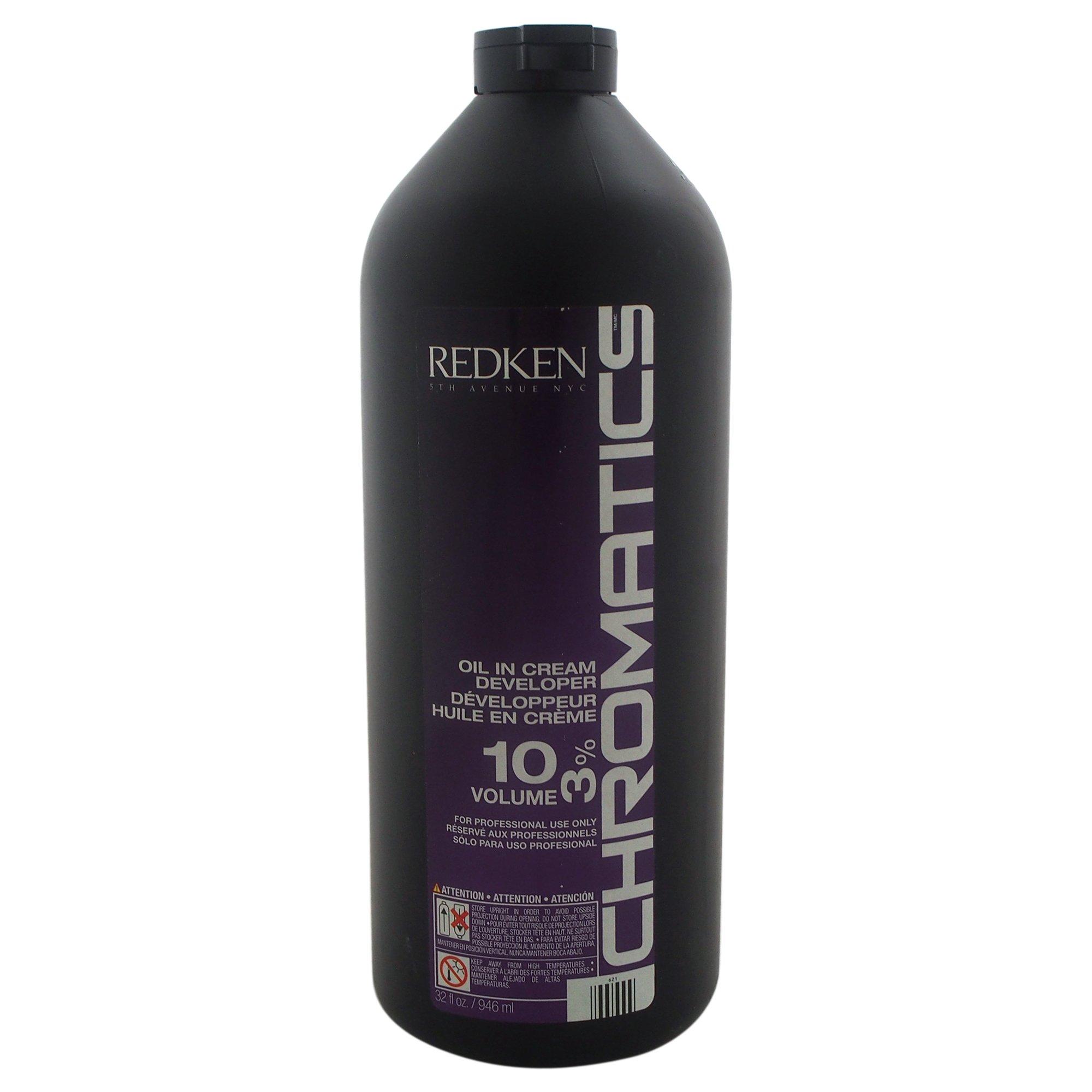 Redken Chromatics Oil In Cream Developer 10 Volume 3 Percent Cream, 32 Ounce