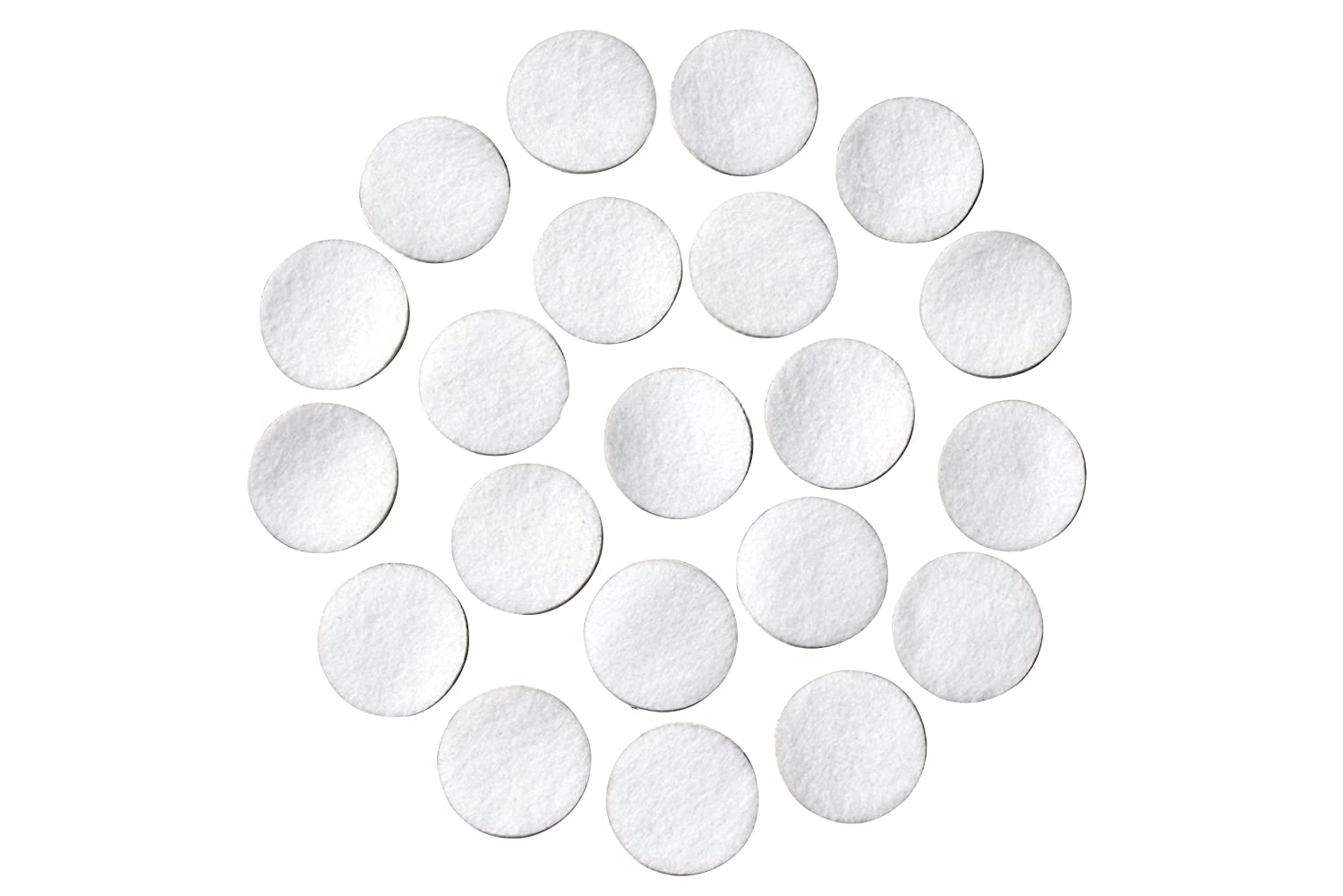 White Adhesive Felt Circles; Package of 48 or 240 Wholesale, 1.5