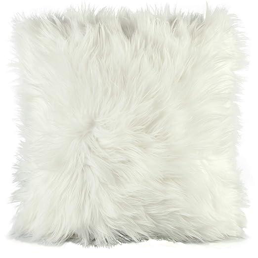 Cojín de pelo largo de CelinaTex, de pelo de oveja de ...