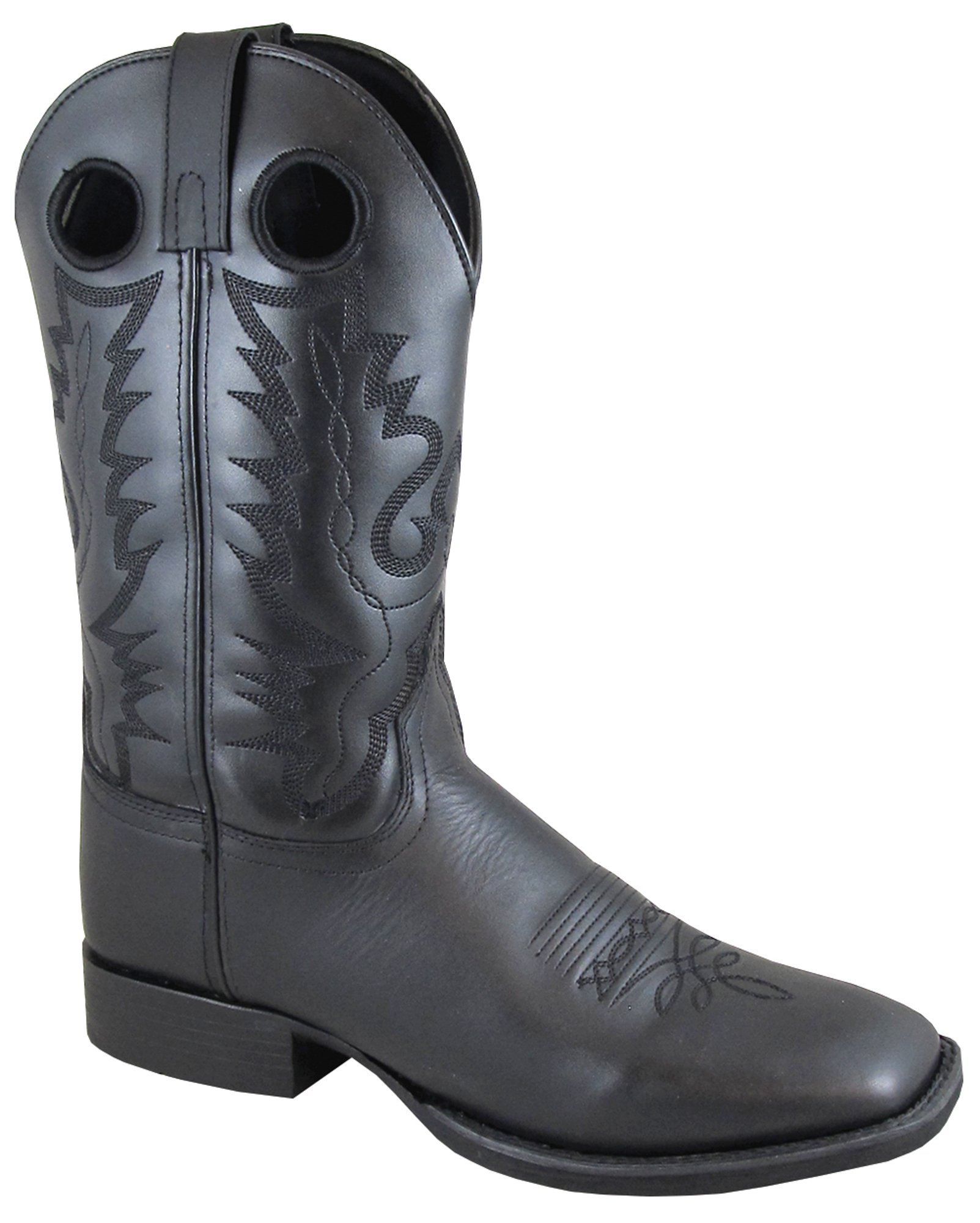 Smoky Mountain Men's 11'' Outlaw Black Leather Western Boots 4056 11
