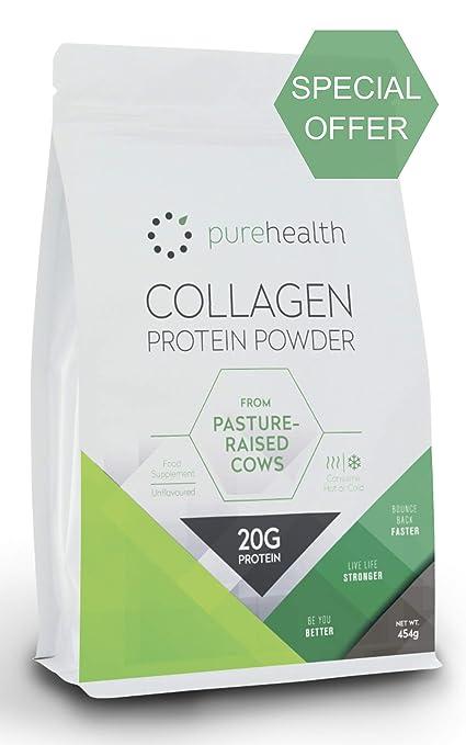 Colágeno puro: 100% polvo de proteína de colágeno hidrolizado de ...