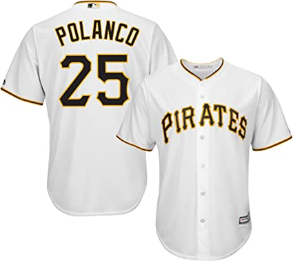 quality design 8f550 cba2b Gregory Polanco Pittsburgh Pirates White Youth Cool Base Home Replica Jersey