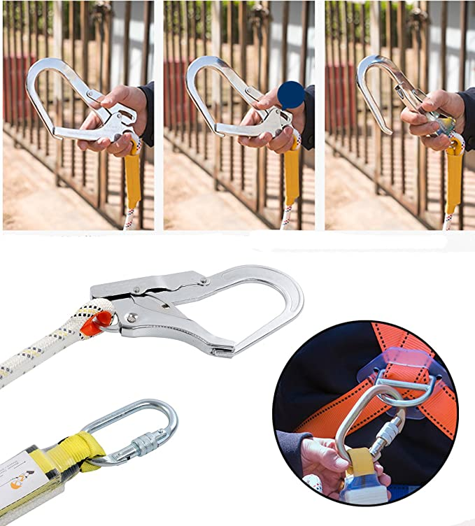 Depruies Construction Harness afety Harness Fall Protection Kit Full Body Universal Harness