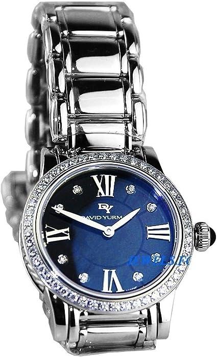 Amazon Com David Yurman Woman S Steel Sterling Silver Watch Black Mop Diamond 30mm New With Box David Yurman Watches