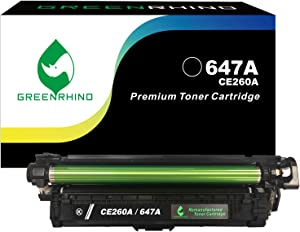 GREENRHINO Remanufactured Toner Cartridge Replacement for HP 647A CE260A CP4000 CP4025 CP4025dn CP4025n CP4520 CP4525 CP4525dn CP4525n (Black, 1-Pack)
