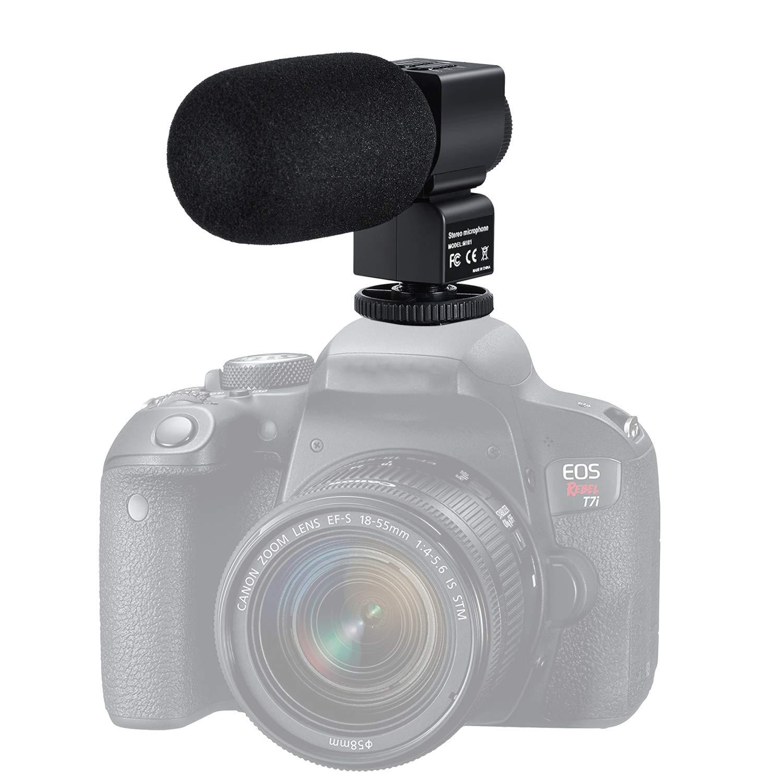FamBrow Micrófono de Video para cámara Nikon Canon, cámara DSLR ...