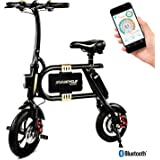 Swagtron SwagCycle Classic E-Bike - Folding Electric Bicycle with 10 Mile Range