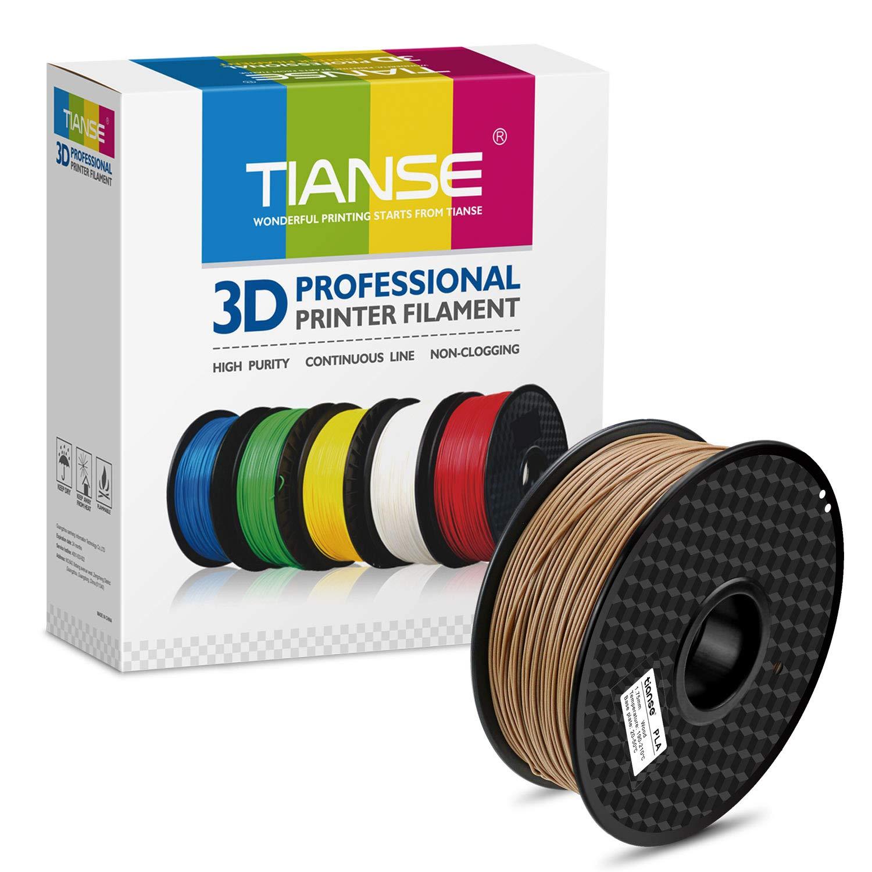 TIANSE PLA 3D Printer Filament,skin Color Wood Pla,1.75mm