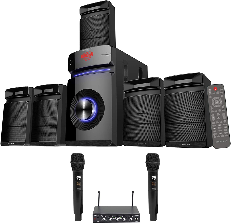 Rockville Hybrid Home Theater Karaoke Machine System w/5.25