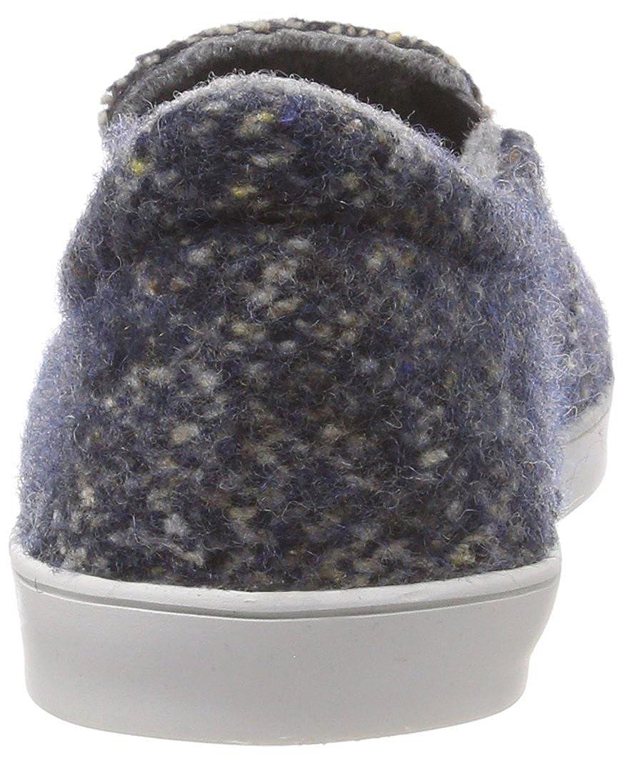 Living Niedrige Kitzbühel Damen Slip-on Tweed Niedrige Living Hausschuhe Blau (Denim 550) 6c5101