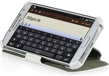 StilGut - Custodia ultra sottile con funzione piedistallo per Samsung Galaxy S4 i9500 e i9505, Bianco