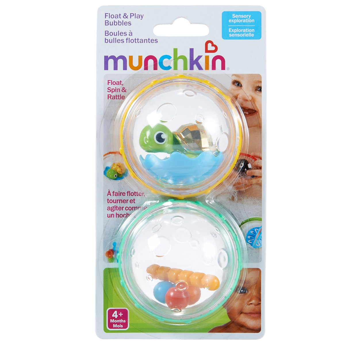 Pack of 2 Munchkin Float and Play Bubbles Bath Toy Assorted Model