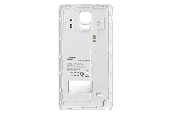 wholesale dealer dc2c6 08251 Samsung Wireless Charging Cover for Galaxy Note 4 - Retail Packaging - White