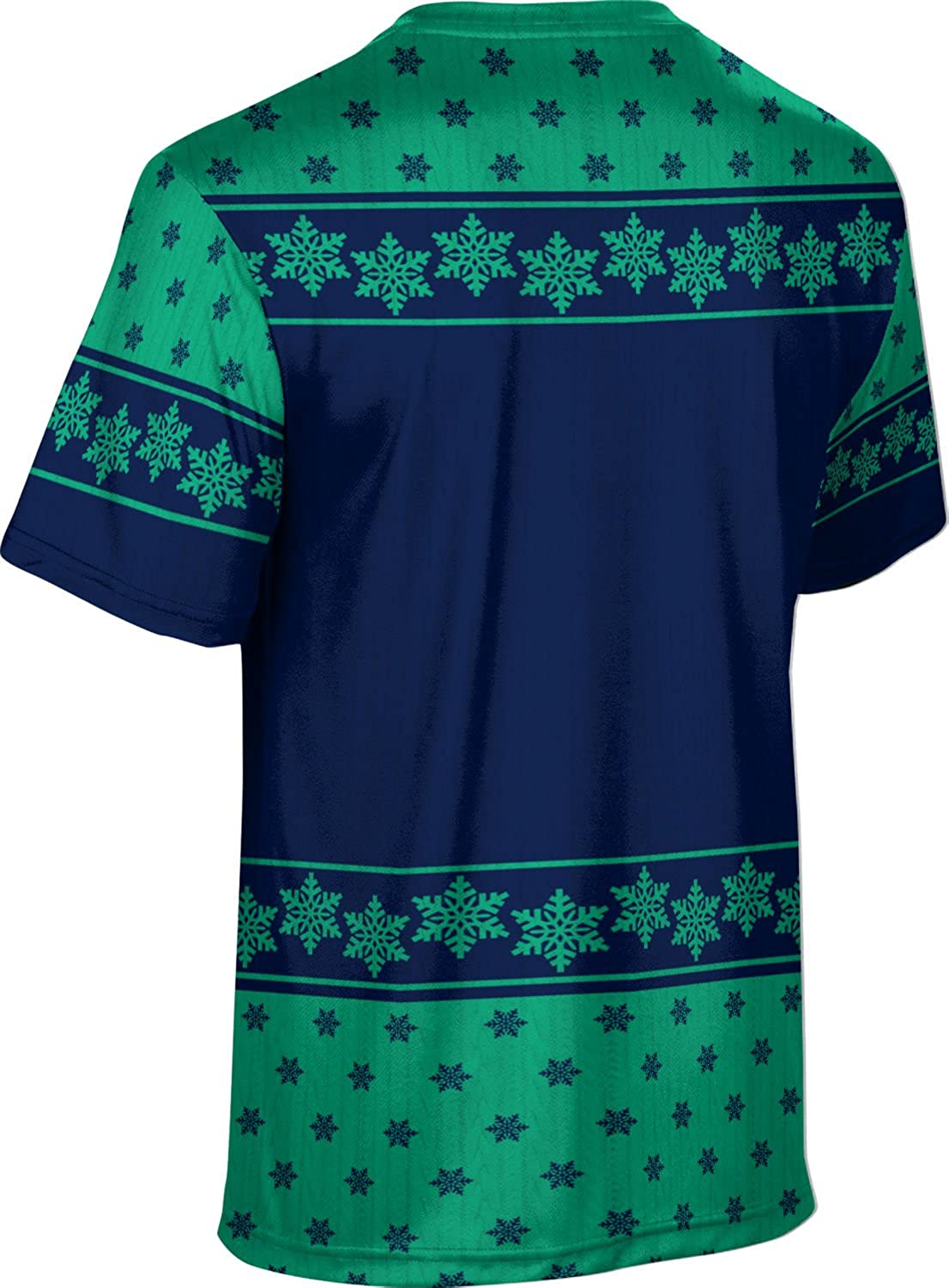 University of West Florida Ugly Holiday Mens Performance T-Shirt Snowflake