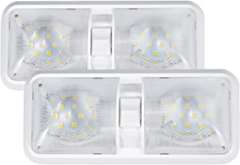 2-Pk. Kohree 12V LED RV Ceiling Dome Light Interior Lighting
