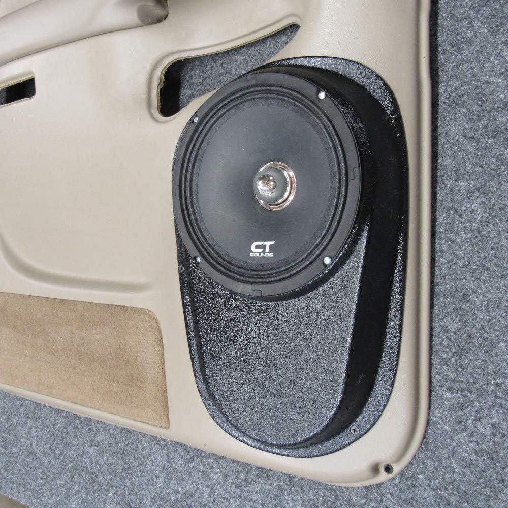Amazon Com Custom Speaker Pods 8 Rear Door Compatible With 2000 2006 Chevrolet Tahoe Suburban Silverado Sierra Yukon Stereo System Upgrade Installation Car Electronics