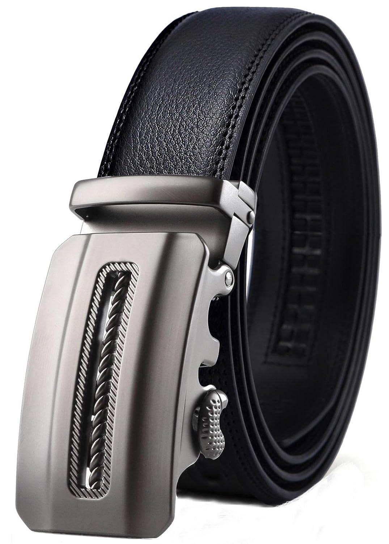 Bulliant Men Belt-Leather Ratchet Belt for Men Dress 1 3/8 In Gift Box, Size Adjustable byTrim to Fit