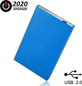 SUHSAI 200GB External Hard Drive 2.5 Inch Portable Slim Storage Expansion HDD USB 2.0 Harddrive for Mac and PC, Laptop and More - Blue