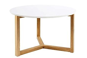 SØRENSEN DESIGN Couchtisch U0026quot;Caseyu0026quot; Weiß Rund Skandinavisches  Design Holz Clean Scandi Chic Wohnzimmer