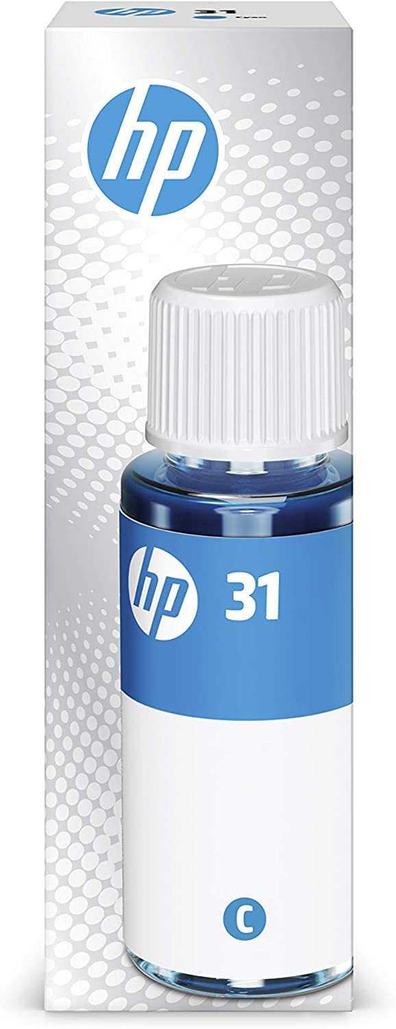 HP 31 Cyan Ink Bottle, 70ml (1VU26AN)