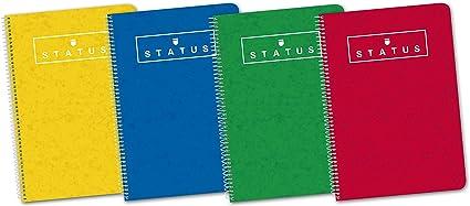 Enri Status 400088608 - Pack de 5 cuadernos espiral, tapa ...