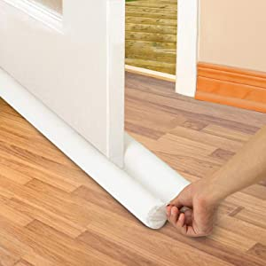 PUNP Draft Door Stopper 36 Inches, Draft Guard for Interior Door, Heavy Duty Door Sweep, Sound Proof Reduce Noise Keeping Warm in and Cold Out, Thicker Door Draft