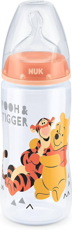 "naranja 300 ml, 0-6 meses dise/ño /""Winnie the Pooh/"", NUK First Choice Plus Biber/ón con tetina de silicona"