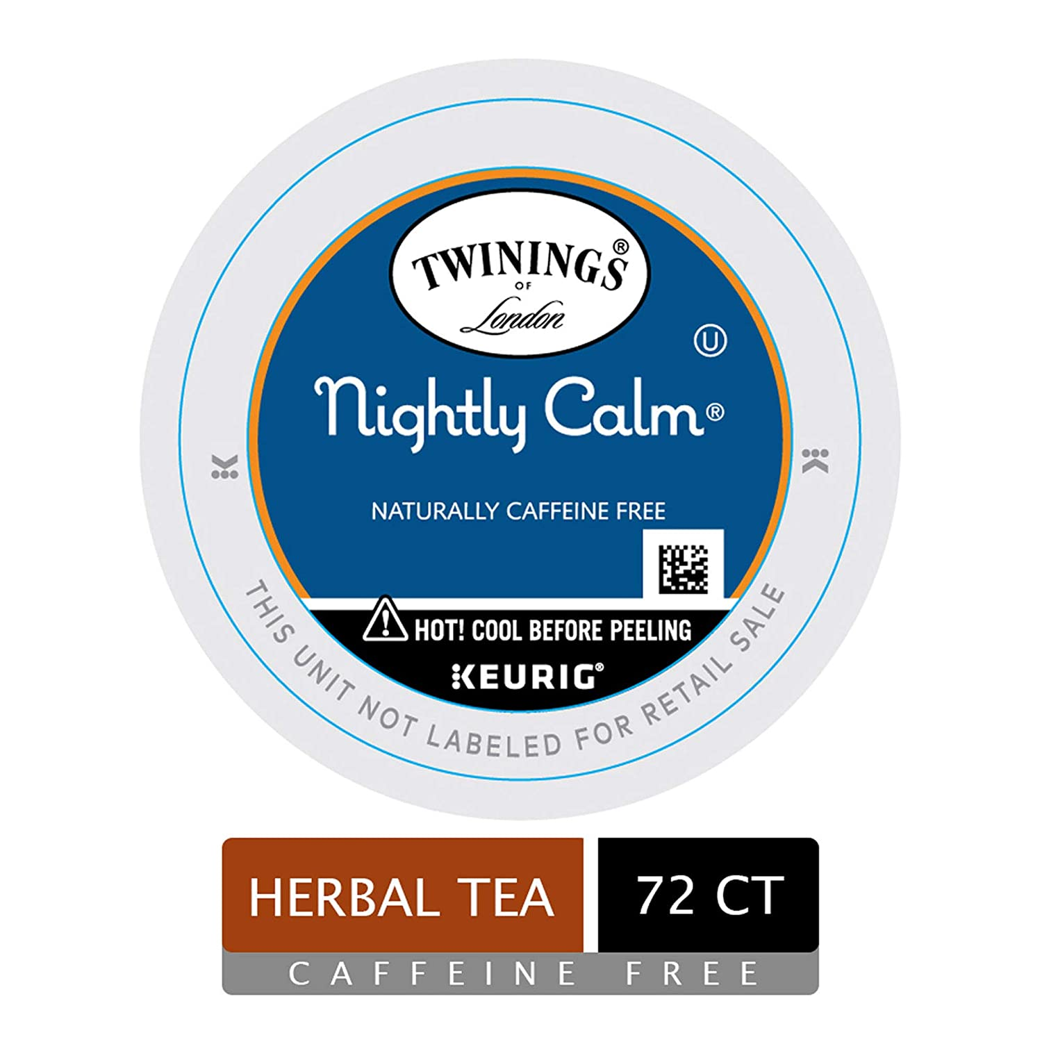 Twinings of London Nightly Calm Tea K-Cups for Keurig, 72 Count