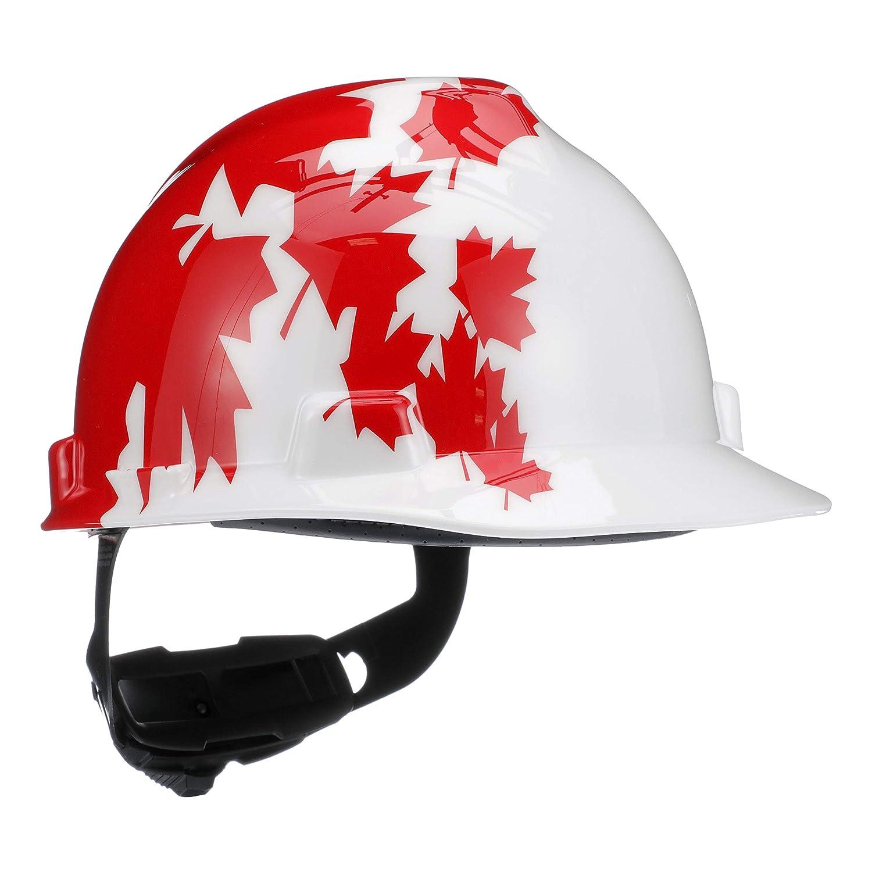 333104f7f77 MSA 10050613 V-Gard Hard Hat Front Brim with Ratchet Suspension ...
