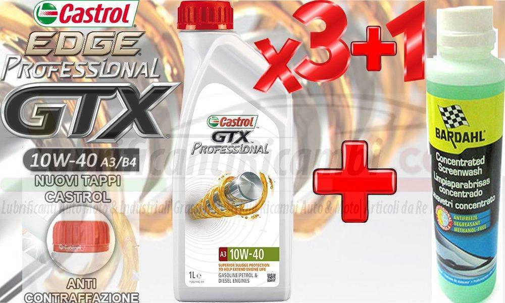 Aceite Motor Coche Castrol GTX Professional 10 W-40 Gasolina ...