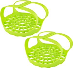 Southern Homewares SH-10331-2 Pressure Cooker Bakeware Sling Silicone Tool Eggs Hot Compatible W/Instant Pot Foldable Easy to Store and Clean, 2 Pack, Diameter is 7.75