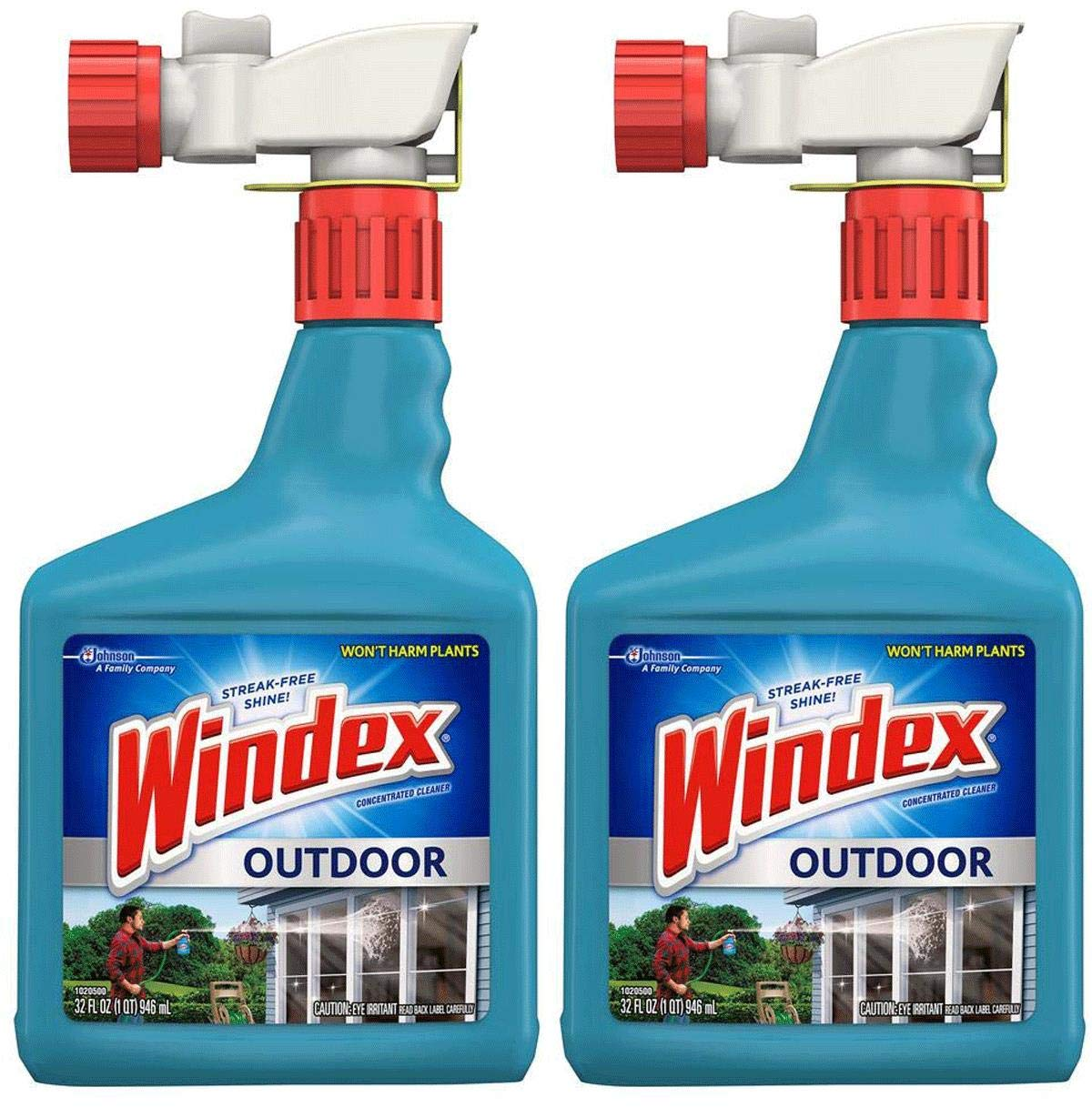 Windex VDLDGJAS Outdoor Glass & Patio Cleaner, 2 Pack of 32 oz